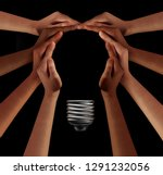 people together imagine and... | Shutterstock . vector #1291232056