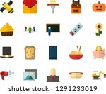 color flat icon set   easter... | Shutterstock .eps vector #1291233019