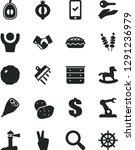 solid black vector icon set  ... | Shutterstock .eps vector #1291236979