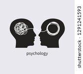 psychology icon. psychologist ... | Shutterstock .eps vector #1291241593