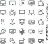 thin line icon set   plane... | Shutterstock .eps vector #1291243510