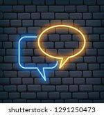 speech bubble in neon effect... | Shutterstock .eps vector #1291250473