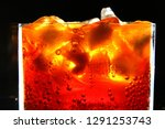 close up of carbonated drink  ... | Shutterstock . vector #1291253743