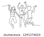 continuous line  drawing of...   Shutterstock .eps vector #1291274023