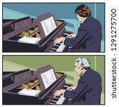 stock illustration. piano...   Shutterstock .eps vector #1291275700