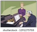 stock illustration. piano...   Shutterstock .eps vector #1291275703