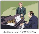 stock illustration. piano...   Shutterstock .eps vector #1291275706