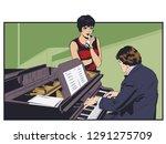 stock illustration. piano...   Shutterstock .eps vector #1291275709