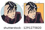 stock illustration. man with a...   Shutterstock .eps vector #1291275820