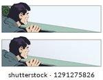 stock illustration. peeping man.   Shutterstock .eps vector #1291275826