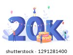 thanks for the first 20000... | Shutterstock .eps vector #1291281400