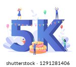 thanks for the first 5000... | Shutterstock .eps vector #1291281406