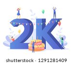 thanks for the first 2000... | Shutterstock .eps vector #1291281409