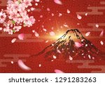 mount fuji with sunrise on... | Shutterstock .eps vector #1291283263