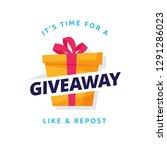 giveaway logo template design... | Shutterstock .eps vector #1291286023