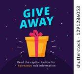 giveaway poster template design ... | Shutterstock .eps vector #1291286053