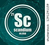 scandium chemical element. sign ... | Shutterstock .eps vector #1291291159