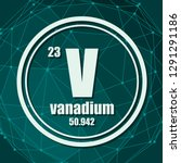 vanadium chemical element. sign ... | Shutterstock .eps vector #1291291186