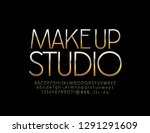 vector logo make up studio with ... | Shutterstock .eps vector #1291291609