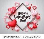 valentines day vector banner.... | Shutterstock .eps vector #1291295140