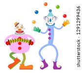 Two Funny Colorful Cartoon...