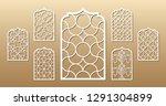 7 vector archs. cutout... | Shutterstock .eps vector #1291304899