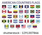 american countries flag set all ... | Shutterstock .eps vector #1291307866