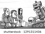 military robot in the post... | Shutterstock .eps vector #1291311436