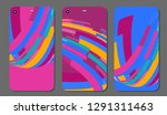 set fashionable abstract... | Shutterstock .eps vector #1291311463