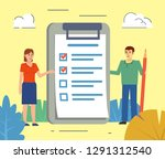 to do list  daily planning ... | Shutterstock .eps vector #1291312540