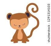 cute and little monkey character | Shutterstock .eps vector #1291314103