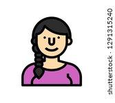 woman pretty concept line icon. ...