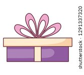 gift box present icon | Shutterstock .eps vector #1291337320