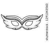 carnival mask accessory icon | Shutterstock .eps vector #1291343560