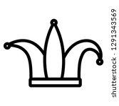 joker hat carnival accessory | Shutterstock .eps vector #1291343569