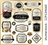 luxury golden labels | Shutterstock .eps vector #129134660