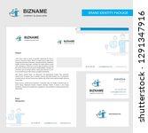 avatar business letterhead ... | Shutterstock .eps vector #1291347916