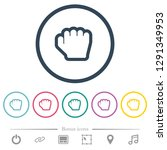 grab cursor flat color icons in ... | Shutterstock .eps vector #1291349953