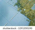 the beach with pathway around...   Shutterstock . vector #1291350190