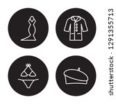 4 linear vector icon set  ... | Shutterstock .eps vector #1291355713