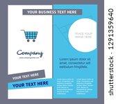 cart company brochure template. ... | Shutterstock .eps vector #1291359640