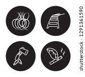 4 linear vector icon set  ... | Shutterstock .eps vector #1291361590