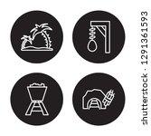 4 linear vector icon set  ... | Shutterstock .eps vector #1291361593