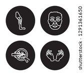 4 linear vector icon set  ... | Shutterstock .eps vector #1291361650