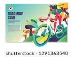 road bike racing event poster... | Shutterstock .eps vector #1291363540