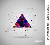hipster space triangle mystic... | Shutterstock .eps vector #129136538