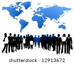 illustration of people and map | Shutterstock .eps vector #12913672