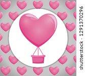balloon air hot with heart shape   Shutterstock .eps vector #1291370296