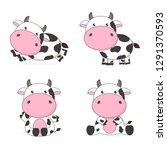 Cute Cow Cartoon Character...
