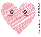 heart face emoticon character | Shutterstock .eps vector #1291370746